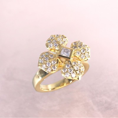 "BAGUE ""MARIE LOUISE"" DOREE"