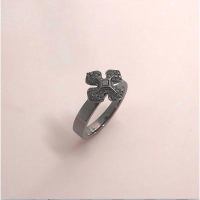 """Bague """"MelleLISA"""" or """"noir"""" et diamants noirs d'Ohdislemoi Joaillerie"""