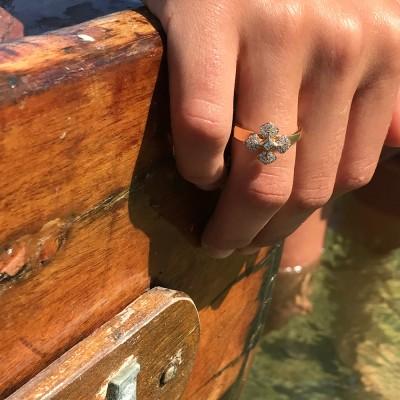 bague-MelleLISA-or-jaune-diamants-design-Paris-Ohdislemoi-Joaillerie, fait main