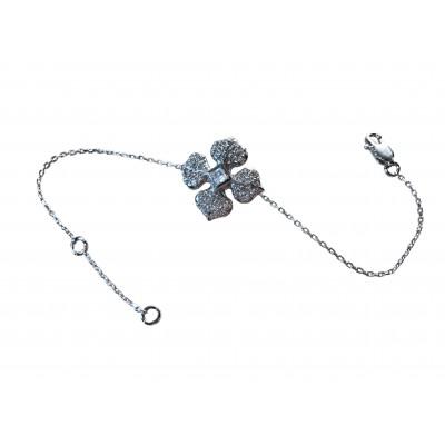 Bracelet Marie Louise en argent rhodié et zircons blancs d'Ohdislemoi-Joaillerie-Paris