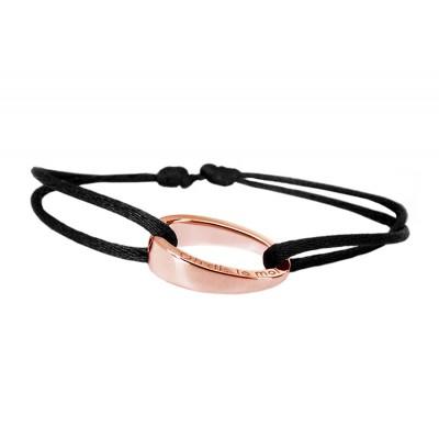 Bracelet cordon OH d'ohdislemoi en argent or rose