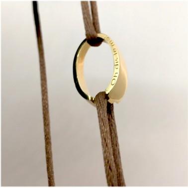 "Bracelet ""OH"" d'Ohdislemoi-Joaillerie-Paris, en or jaune, fait main"