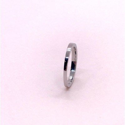 Alliance Inclinaison For ever d'Ohdislemoi-Joaillerie, en or gris 18 ct