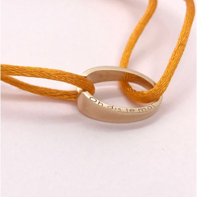 bracelet or rose cordon