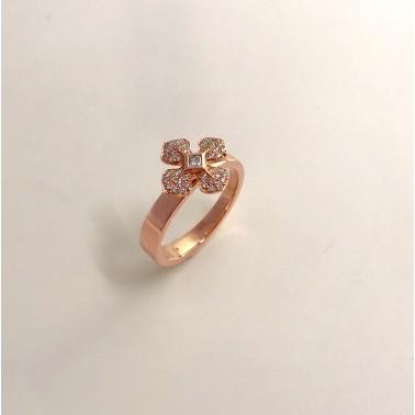 Bague or rose et diamants Melle LISA d'Ohdislemoi-joaillerie-Paris
