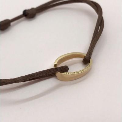 """Bracelet """"OH"""" d'Ohdislemoi-Joaillerie-Paris, en or jaune, fait main, Paris"""