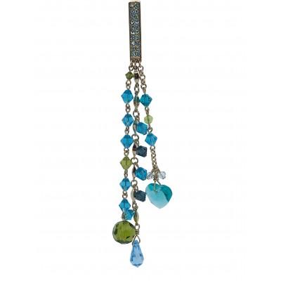 Bijou attachante charms cristal Blue green