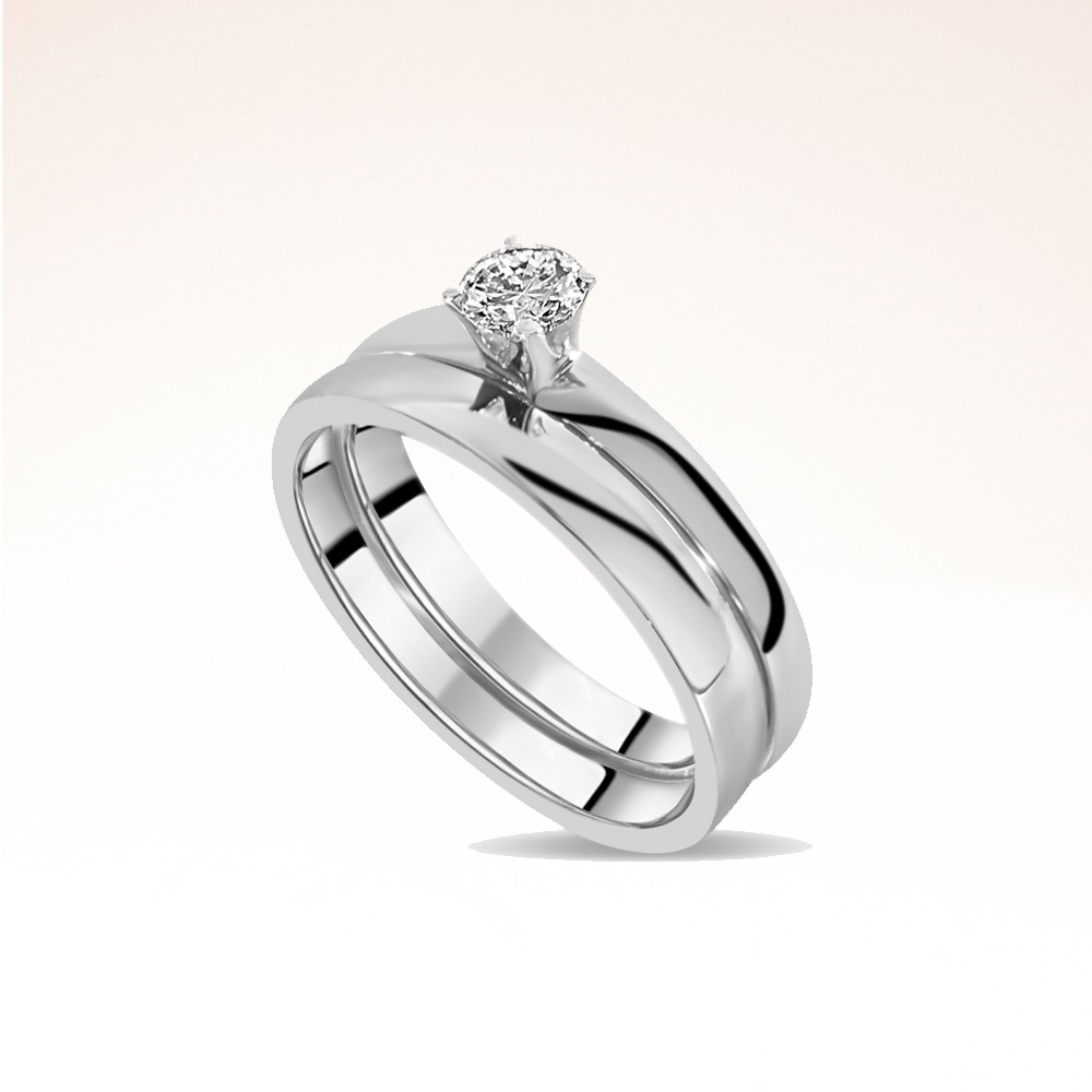 Solitaire diamant et alliance or blanc  Ohdislemoi-Joaillerie-Paris