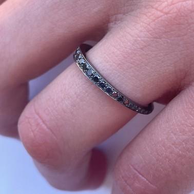 "ALLIANCE design en or ""noir"" et diamants noirs d'Ohdislemoi Joaillerie"