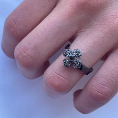 """Bague """"MelleLISA"""" or """"noir"""" et diamants noirs d'Ohdislemoi Joaillerie, fait main Paris"""