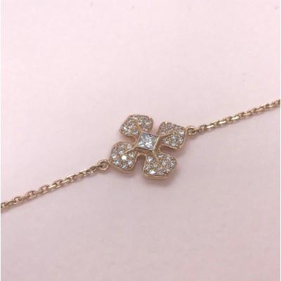 """Bracelet""""MelleLISA""""en or rose et diamants blancs, Ohdislemoi-Joaillerie"""