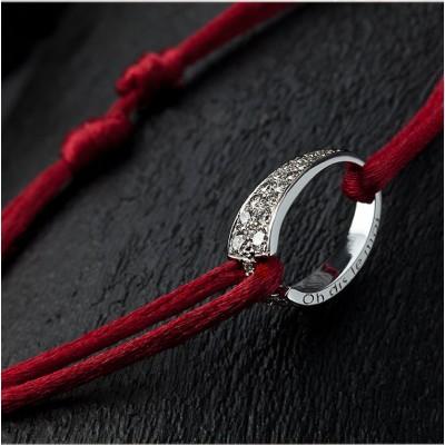 Bracelet OH en or blanc et diamants, d'Ohdislemoi-Joaillerie Paris