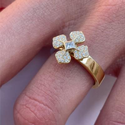 bague-MelleLISA-or-jaune-diamants-design-Paris-Ohdislemoi-Joaillerie, fait main à Paris