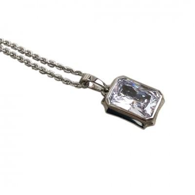 Pendentif Lady Chaterley zircon blanc d'Ohdislemoi-joaillerie-argent-paris