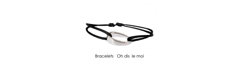 Bracelets argents et cuir